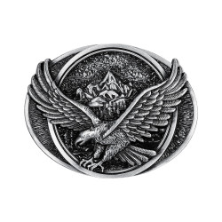 BC0037 BOBIJOO Jewelry Belt buckle Eagle Mountain Road USA Silver
