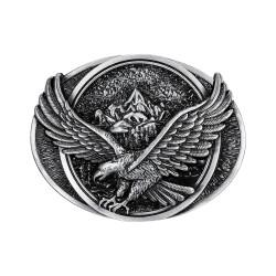 BC0037 BOBIJOO Jewelry La hebilla del cinturón de Eagle Mountain Road, estados UNIDOS de Plata