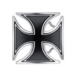 BC0040 BOBIJOO Jewelry Belt buckle Black Cross Templar Biker