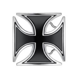 BC0040 BOBIJOO Jewelry Gürtelschnalle Schwarze Kreuz Templer Biker