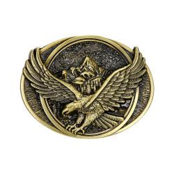 BC0038 BOBIJOO Jewelry La hebilla del cinturón de Eagle Mountain Road, estados UNIDOS de Bronce de la