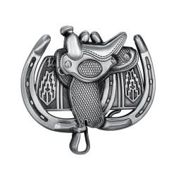 BC0044 BOBIJOO Jewelry Gürtelschnalle Sattel, Pferd, Western