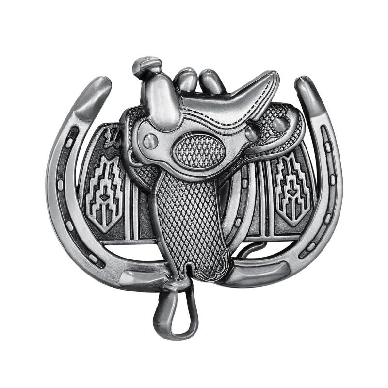 BC0044 BOBIJOO Jewelry Boucle de Ceinture Selle Cheval Western
