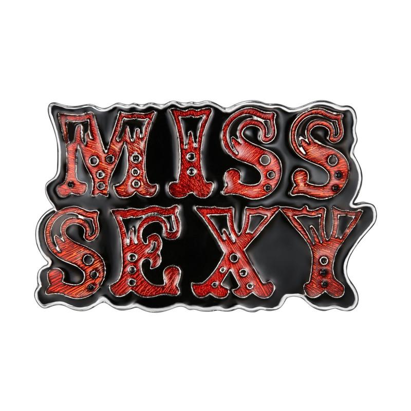 BC0047 BOBIJOO Jewelry Boucle de Ceinture Femme Miss Sexy email Rouge Noir