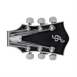 BC0050 BOBIJOO Jewelry Gürtelschnalle-Gitarre, Elektro-Rock-Schwarz