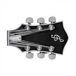 BC0050 BOBIJOO Jewelry La hebilla del cinturón de Guitarra Eléctrica Rock Negro