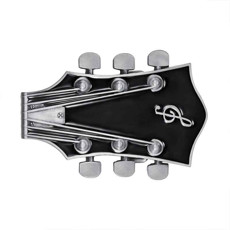 BC0050 BOBIJOO Jewelry Boucle de Ceinture Guitare Electrique Rock Noir