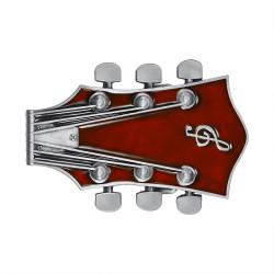BC0049 BOBIJOO Jewelry Gürtelschnalle-Gitarre, Elektro-Rock, Rote