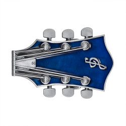 BC0048 BOBIJOO Jewelry Belt buckle Electric Guitar Rock Blue