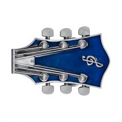 BC0048 BOBIJOO Jewelry Gürtelschnalle-Gitarre, Elektro-Rock-Blau