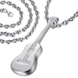 PE0175SB LE BAGACIER Colgante de Guitarra Viajero Gipsy Acero 316L + Cadena de Café