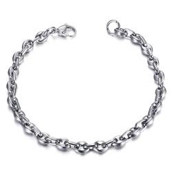 Bracelet Grain de Café Homme Femme Acier 316L Argent