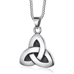 PE0286 BOBIJOO Jewelry - Anhänger, Triquetra Keltisch Dreifaltigkeit Stahl 316L Kette