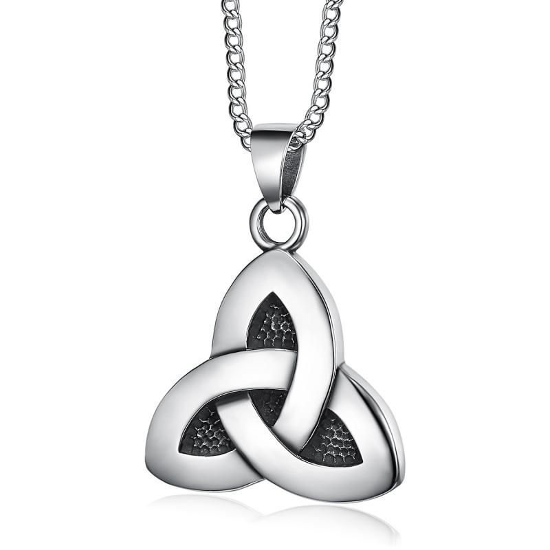 PE0286 BOBIJOO Jewelry Pendentif Triquetra Celte Trinité Acier 316L Chaîne