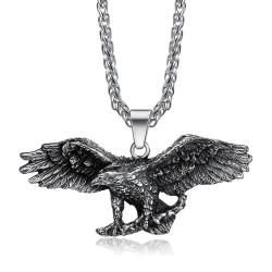 PE0282 BOBIJOO Jewelry Colgante Águila Símbolo de la Libertad de estados UNIDOS Ciclista Triker