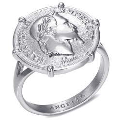 BAF0052 BOBIJOO Jewelry Anillo Anillo anillo Conjunto Con Napoleón III de la Moneda Louis Dinero