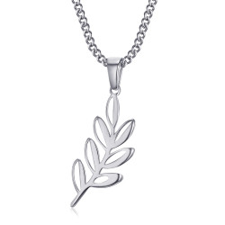 PE0294 BOBIJOO Jewelry Pendant Acacia Leaf Titi and Freemasonry Silver