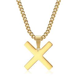 PE0295 BOBIJOO Jewelry Colgante Cruz Decussé de San Andrés X Oro