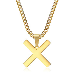 PE0295 BOBIJOO Jewelry Pendant Cross Decussé of Saint Andrew X Gold