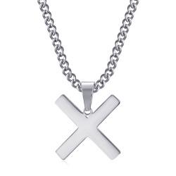 PE0296 BOBIJOO Jewelry Pendant Cross Decussée of Saint Andrew X Silver