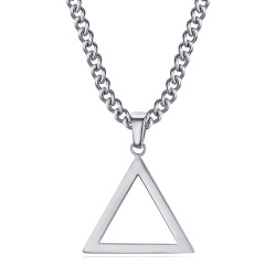 PE0300 BOBIJOO Jewelry Pendentif Triangle Franc Maçonnerie Argent