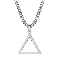 PE0300 BOBIJOO Jewelry Silver Freemasonry Triangle Pendant