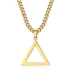 PE0299 BOBIJOO Jewelry Colgante Triángulo Masonería Oro