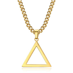 PE0299 BOBIJOO Jewelry Gold Freemasonry Triangle Pendant
