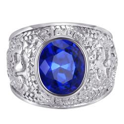 BA0383 BOBIJOO Jewelry Anillo American University USA Acero Plata