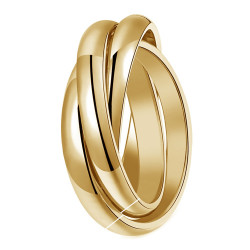 BAF0053 BOBIJOO Jewelry Ring 3 Rings 3mm Stainless Steel 316L Gold Gold Plated