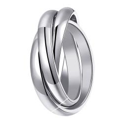 BAF0013 BOBIJOO Anello gioielli 3 anelli Acciaio inossidabile 316L Argento