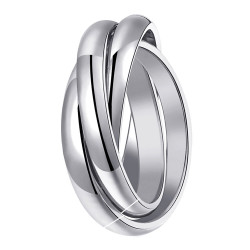 BAF0013 BOBIJOO Jewelry Ring 3 Rings 316L Stainless Steel Silver