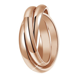 BAF0054 BOBIJOO Jewelry Ring 3 Rings 3mm Stainless Steel 316L Rose Gold Plated