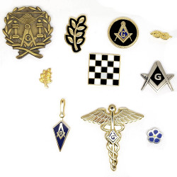 PIN0034 BOBIJOO Jewelry Lot of 10 Freemasonry Theme pins