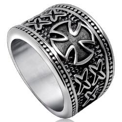 BA0170 BOBIJOO Jewelry Siegelring Ring Vintage Orden der Templer