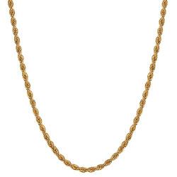 COH0027 BOBIJOO Collana con catena di gioielli Corda a maglia intrecciata 3 mm 55 cm Acciaio oro