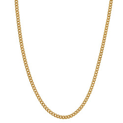 COH0028 BOBIJOO Jewelry Chain Necklace Cuban Mesh 2mm 45cm Steel Gold