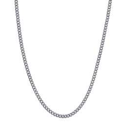 COH0028S BOBIJOO Jewelry Chain Necklace Cuban Mesh 2mm 45cm Steel Silver