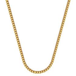 COH0029 BOBIJOO Collana con catena di gioielli in maglia veneziana 2 mm 55 cm in acciaio dorato