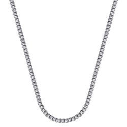 COH0029S BOBIJOO Jewelry Collar Cadena Veneciana Malla 2mm 55cm Acero Plata