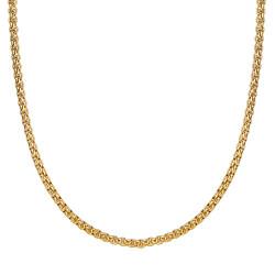 COH0030 BOBIJOO Collana con catena di gioielli Rotolo di maglia 3mm 55cm Acciaio oro
