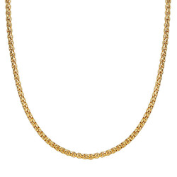 COH0030 BOBIJOO Jewelry Collar De Cadena Rollo De Malla 3mm 55cm Acero Dorado