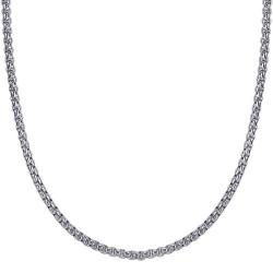 COH0030S BOBIJOO Collana con catena di gioielli Rotolo di maglia 3 mm 55 cm Acciaio argento