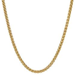 COH0033 BOBIJOO Jewelry Chain Necklace Mesh Wheat Fiber 3mm 55cm Steel Gold