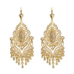 Ohrringe Metall-Silber-Blumen IM#18469