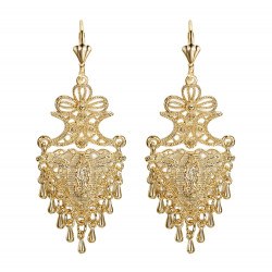 BOF0103 BOBIJOO JEWELRY Earrings Dangling Silver-tone Metal Flowers