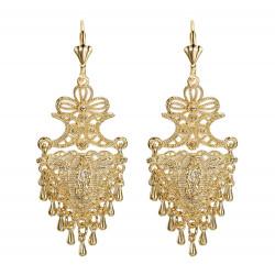 Ohrringe Metall-Silber-Blumen IM#18475