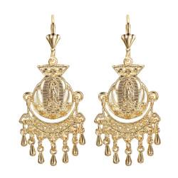 Ohrringe Metall-Silber-Blumen IM#18487