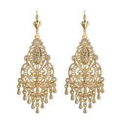 Ohrringe Metall-Silber-Blumen IM#18511