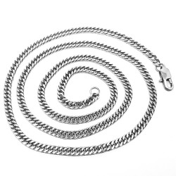 Chain Mesh Curb chain 60cm 4mm Stainless Steel IM#18529